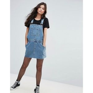 ASOS | Denim Overall Dress in Midwash Blue